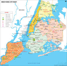 North American Time Zones Map by Nyc Map Map Of Nyc