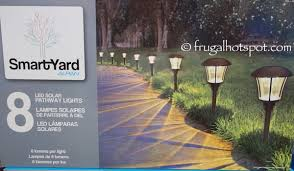 Costco Led Outdoor Lights Smartyard Solar Led Large Pathway Lights 8 Pack Costco