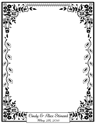 halloween border black and white caricatures by the fine tooners u0026 more preprinted paper for events