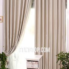 Simple Curtains For Living Room Beige And Silver Striped Blackout Living Room Casual Cheap Simple