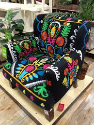 Home Goods Chair Covers Bonkers For Bohemian Interiors Folk Art Armchairs And Bohemian