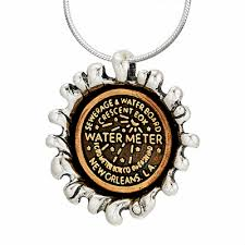 new orleans water meter necklace jose balli jewelry overfleaux water meter pendant