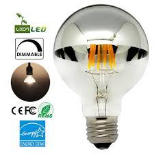 amazon com half chrome light bulb dimmable led edison bulb silver
