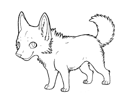 wolf anime coloring pages cartoon wolf puppy coloring pages