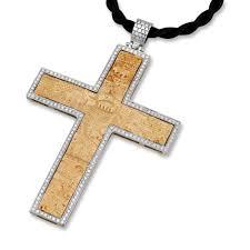 Engraving Jewelry 14k Gold And Diamond Roman Cross Pendant With Jerusalem Engraving