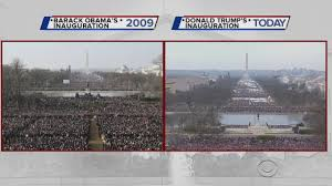 picture of inauguration crowd pelley crowd u0027thinner u0027 for trump inauguration compared with obama