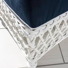 White Resin Wicker Patio Furniture Everglades White Resin Wicker Patio Ottoman By Lakeview Outdoor