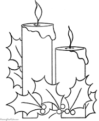 christmas coloring pages bells candles
