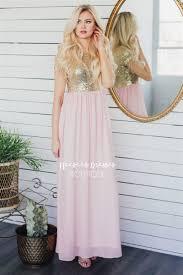 best place to buy bridesmaid dresses petal pink gold sequin maxi dress beautiful modest bridesmaids