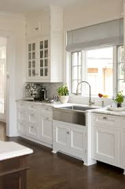 decor long grey stainless apron sink with cool faucet for kitchen