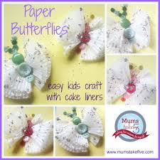 butterfly craft for kids with paper cake liners