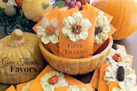 homespun with give thanks thanksgiving favors