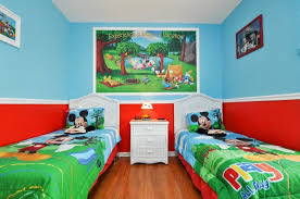 mickey mouse clubhouse bedroom this adorable bedroom is filled with mickey and his friends