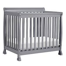 Davinci Kalani Mini Crib Espresso Davinci Kalani 2 In1 Convertible Mini Crib In Grey Buybuy Baby