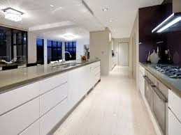 Designing A Galley Kitchen Kitchen Modern Galley Kitchen With High Gloss White Cabinet And