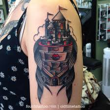 35 awesome castle tattoos