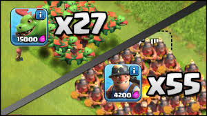 clash of clans dragon wallpaper clash of clans 55 miner u0026 27 baby dragon attacks vs max th11