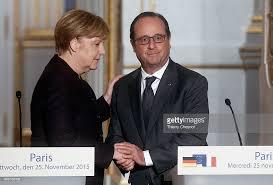 Seeking German President Francois Hollande Receives German Federal