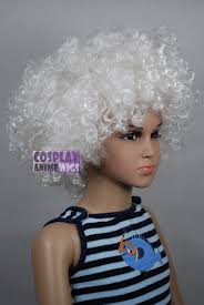 white halloween wigs unisex white afro kids children halloween wigs fits from baby to