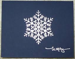 be merry embossed snowflake card handmade and handsted flickr
