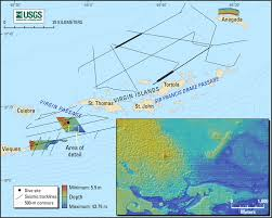 Map Of The Virgin Islands Marine Geophysical Survey Of The Virgin Islands Platform Aids In
