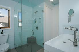 Beveled Subway Tile Shower by White Glass 4