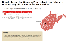 Primary Map 2016 West Virginia Republican Primary Results And Voting Map
