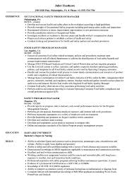 program manager resume safety program manager resume sles velvet