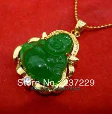 stone pendant necklace wholesale images Wholesale price free shipping new lucky green stone buddha jpg
