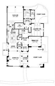 courtyard house plans l shaped ranch plan with garage dwg094 lvl1
