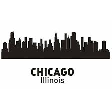 aliexpress com buy chicago city decal landmark skyline wall