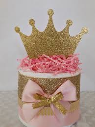 Centerpieces For Baby Shower by Mini Princess Pink And Gold Diaper Cakes Princess Theme Baby