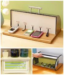charging box repurpose old bread box charging station popular pins