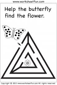 preschool and kindergarten u2013 mazes free printable worksheets