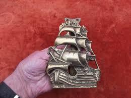 Bat Door Knocker by Antique Large Heavy Brass Sailing Ship Door Knocker Galleon Door