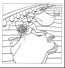 outstanding cinderella wedding coloring pages cinderella
