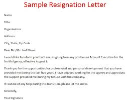 sample resignation letter format 14 download free samples of