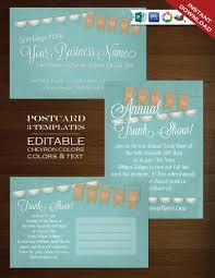postcard template doilie burlap bunting flyer template psd