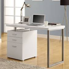 monarch specialties inc hollow core l shaped computer desk monarch hollow core left or right facing 48 in desk white