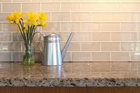 Glass Kitchen Tiles For Backsplash by Light Taupe Glass Subway Tile Backsplash Bennington Pinterest