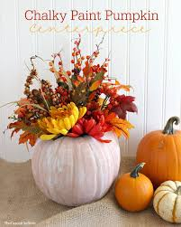 Fall Decorating Projects - vintage inspired chalky paint pumpkins