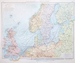 North Sea Map Map Of North Sea Trade Routes 1903