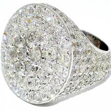 large diamonds rings images Mens diamond ring 8ct 10k white gold big look pinky ring round top jpg