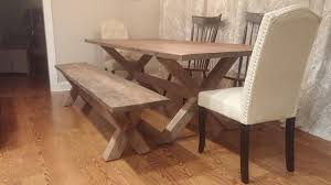 Dining Room Tables Reclaimed Wood by Custom X Base Dining Table Reclaimed Wood Table X Legs By The