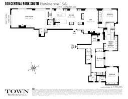 Central Park Floor Plan by Central Park South New York