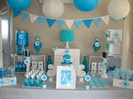 blue themed candy u0026 dessert table party pinterest dessert