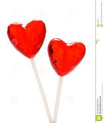 heart lollipop two heart shaped lollipops for stock image image 1663405