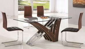 6 Seater Dining Table Design With Glass Top Dining Room Glass Dining Tables For Small Spaces Wood