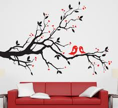 birds tree wall sticker for living room bedroom birds tree wall art sticker