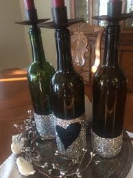 Wine Bottle Centerpieces Diy Glitter Dipped Wine Bottle Centerpiece Originally Southern